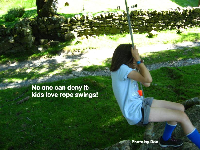 Kids love rope swings!